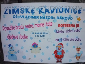 zimske radionice 16. plakat